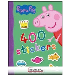 400 STICKERS. PEPPA PIG. CON ADESIVI