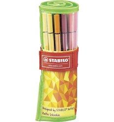 Stabilo Pen 68 Fan Edition Rollerset da 25 Colori Assortiti